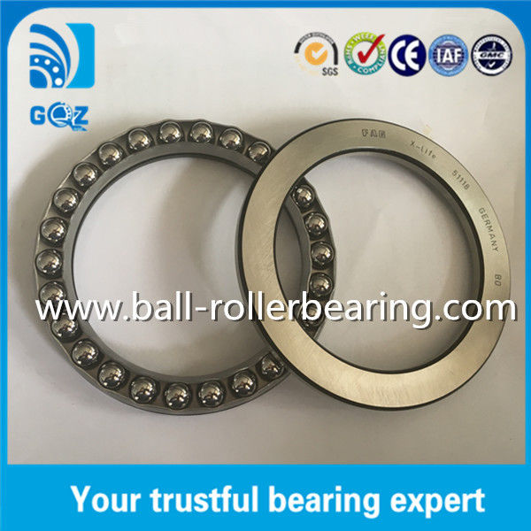 51118 Single Direction Thrust Ball Bearing With Seat Washers