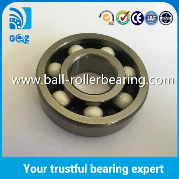 Hybrid Ceramic Deep Groove Ball Bearing with Nylon Retainer ZrO2 Material 6305