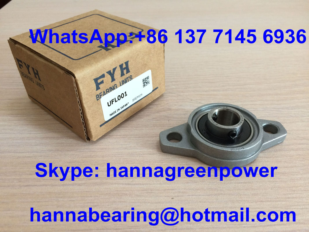 UFL001 Zinc Alloy Pillow Block Bearing FL001 - U001 Bearing 12*38*63mm