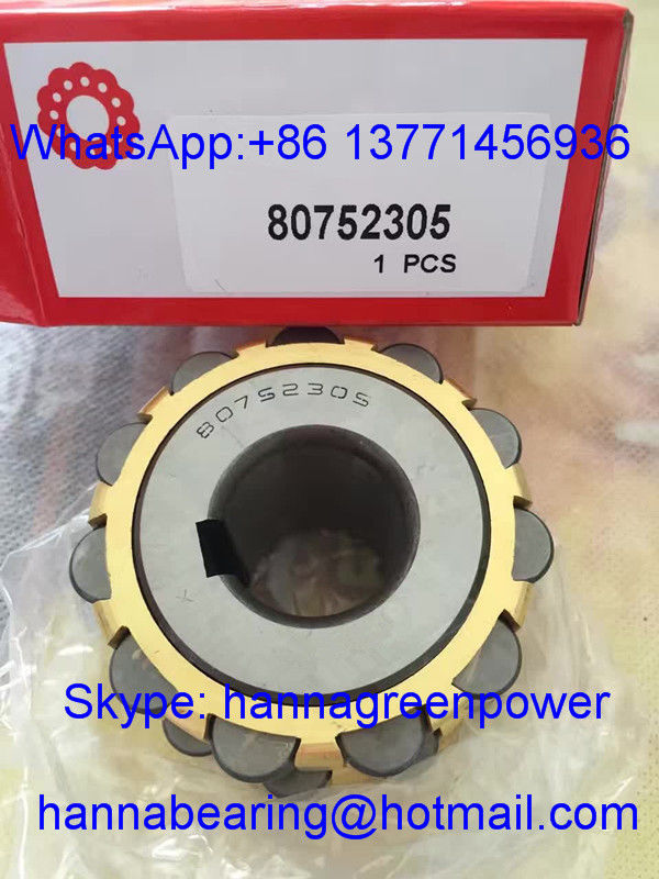 80752305 Brass Cage Cylindrical Roller Bearing , Eccentric Bearing 25*68.2*42mm