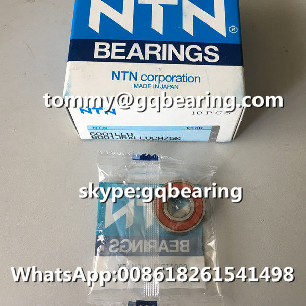 10 PCS Packing NTN 6001JRXLLUCM/5K Rubber Sealed Deep Groove Ball Bearing