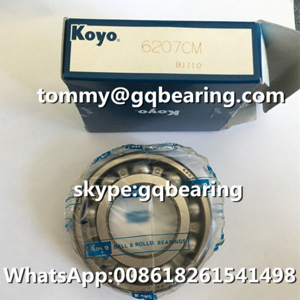 Gcr15 Steel Material Japan Genuine KOYO 6207 6207CM Single Row Deep Groove Ball Bearing