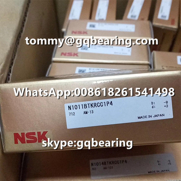 CC1 Clearance NSK N1011BTKRCC1P4 Single Row High Precision Cylindrical Roller Bearing