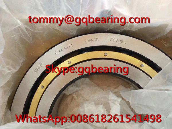 C3 Clearance SKF 6244 M/C3 Brass Caged Deep Groove Ball Bearing